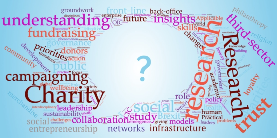 wordcloud showing charity knowledge-gap