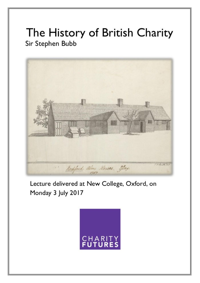 History of Charity Publication Cover