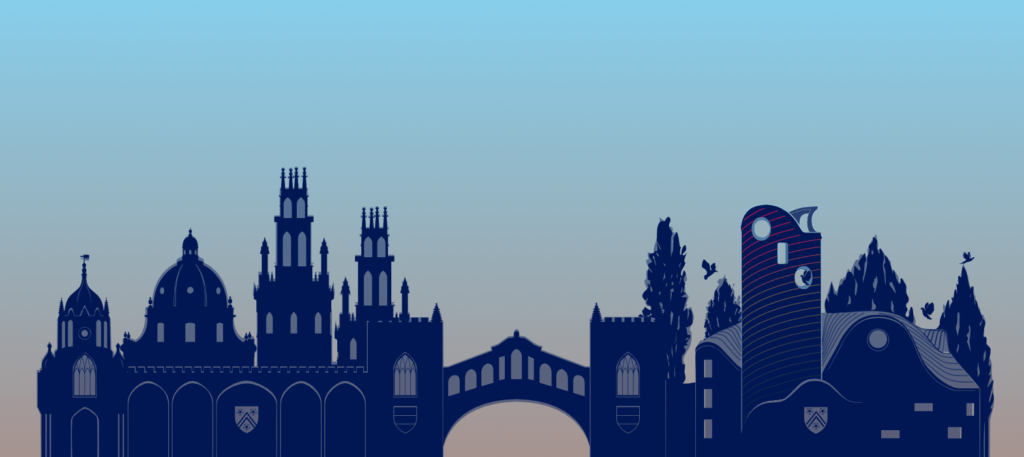 Oxford Institute of Charity at New College skyline illustration
